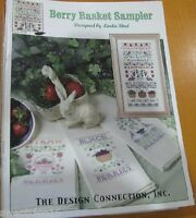 BERRY BASKET SAMPLER THE DESIGN CONNECTION INC.  CROSS STITCH LEAFLET/BOOK ONLY