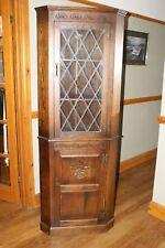 Webber solid oak corner cabinet display cabinet