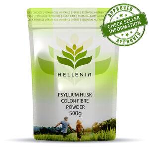 Hellenia Psyllium Husk Colon Fibre - 500g Powder