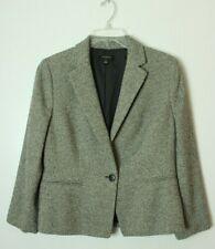 Ann Taylor Women's 12 Gray Black Dots Wool Rayon Blazer
