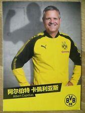 Autogrammkarte ALBERT CAPELLAS Borussia Dortmund China Tour 2017 17/18 MEGA RAR