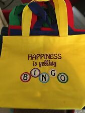 BINGO BAG NEW MACHINE EMBROIDERY PERSONALIZED FREE WITH NAME GAMERS NIGHT OUT