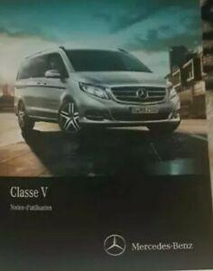 Notice manuel D'utilisation Mercedes  classe V edition 2016