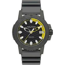 Mens Wristwatch NAUTICA KEY WEST NAPKYW004 Silicone Grey Black Sub 100mt NEW
