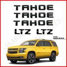 5× Gloss Black TAHOE Rear & Side Emblem Nameplate Set For GM 07-16 Chevrolet LTZ