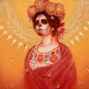 Sylvia Ji Marigold Catrina S/N Art x/150 Dia De Los Muertos Poster Day of Dead