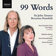 Sir John Tavener Roxanna Panufnik - 99 Words (NEW CD)
