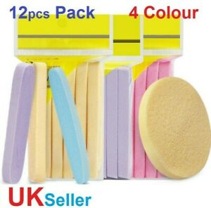 12x Pack Facial Cleansing Make-up Compressed Cellulose Skin Friendly Sponge