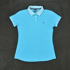 MARINA YAchting Stretch Fit Polo SHIRT Emerald Blue M Sailing wear