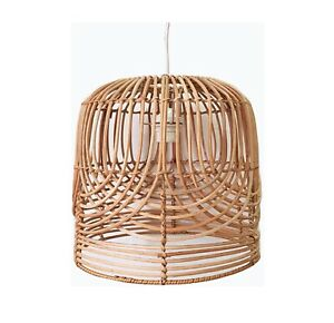 Rattan pendant lights-Natural