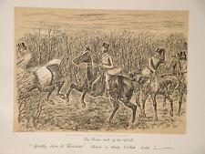 FINCH MASON FOX-HUNTING RIDING England Caricature Hunter Hunting Horses Cylinder