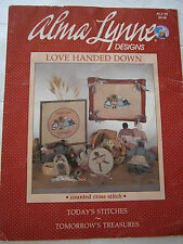 1985 Love Handed Down Cross Stitch Pattern Book Welcome Friends Girl Boy Melon