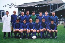 10 x Ron Harris Signé Chelsea Team Photo 12x8 revendeur lot L'Association AFTAL RD#175