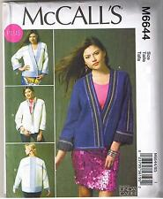 Reversible Jacket Color Block Quilt McCalls Sewing Pattern Plus Size 18 20 22 24