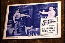 ATOM MAN VS SUPERMAN 1950 LOBBY CARD #2 SERIAL KIRK ALYN GREAT CARD