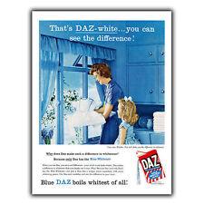 DAZ Washing Powder METAL SIGN WALL PLAQUE Retro Print poster Kitchen 1958