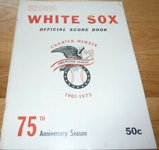 1975 CHICAGO WHITE SOX VS NEW YORK YANKEES UNSCORED SCORECARD-PROGRAM 1