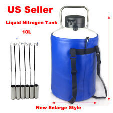 New Extended 10L Liquid Nitrogen Tank 50mm Cryogenic Container 6Pcs Pails