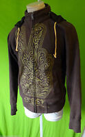 OBEY hamsa PEACE sign brown hand small hoodie track jacket fist propaganda small