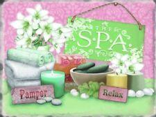The SPA Pamper Relax Bathroom Home Gift Hotel Decor B&B Medium Metal Steel Sign
