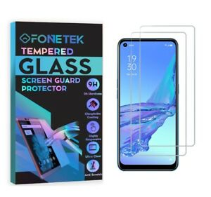 2x OPPO A53 [TEMPERED GLASS] Clear LCD Screen Protector Guard Cover 9H Hardness