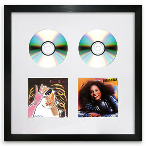 "Oxford Double CD & Cover Black Frame & White Mount Memorabilia Wall Art 14x14"""