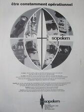 1/1979 PUB SOPELEM ARMEMENT NIGHT VISION OPTIQUE EPISCOPE ORIGINAL FRENCH AD