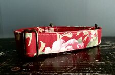 Greyhound House Collar: Vintage red floral (or other breed).