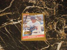 1986 DONRUSS HIGHLIGHTS  AUTO CARD FROM STEVE SAX #50 NM-MT