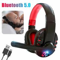 Foldable Bluetooth 5.0 Headphones Earphones Wireless Headset Noise Cancelling
