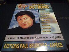 """PARTITION """"TOP : JACQUES DUTRONC"""" 10 titres"""