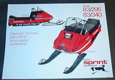 BOLENS SPRINT 83/295 & 83/340 SNOWMOBILE SALES BROCHURE SINGLE PAGE  (788)