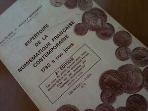 ►ENVOI GRATUIT  ►☆ J.DE MEY • REPERTOIRE NUMISMATIQUE FRANCAISE CONTEMPOR.☆C2049