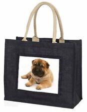 Bear Coated Shar-Pei Puppy Dog Large Black Shopping Bag Christmas Pre, AD-SH2BLB