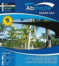 Extra Heavy Duty Shade Sail Canopy 10 YEAR UV WARRANTY