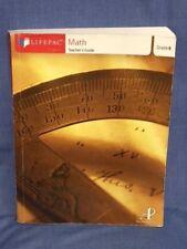 LIFEPAC Math Teachers Guide Grade 9 Algebra Home School Mathematics