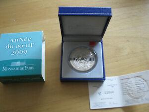 Frankreich, Jahr 2008, China Jahr des Ochsen  Silber 900/1000,  RAR