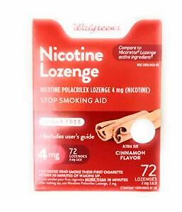 Walgreens Nicotine Lozenge, 4 mg, Cinnamon, 72 Count