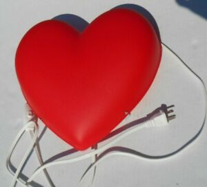 Red Heart Shaped Wall Mount Hanging Light Lamp
