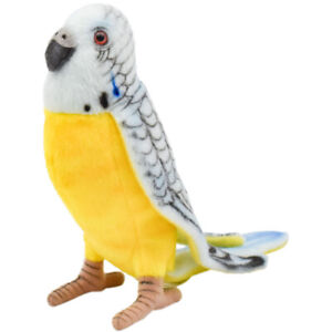 "NEW Budgerigar Parakeet Blue & Yellow Plush Stuffed Animal 6"" by Hansa Toys 4653"