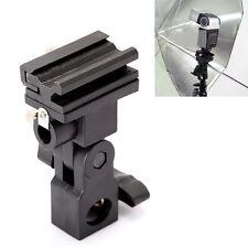 Flash Light Swivel Bracket Shoe Stand Mount Umbrella Holder Type B Adapter Black