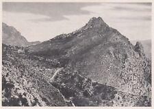 D3587 France - Mentone - Il villaggio di S. Agnese - Stampa d'epoca - 1940 print