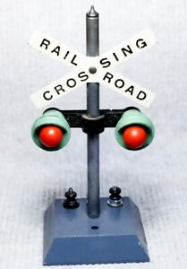 American Flyer S-gauge 760 crossing signal, enhanced separate lights flash, #1