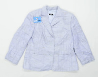 Basler Womens Size 14 Silk Blue Jacket