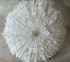 UMBRELLA/PARASOL WOMEN'S VICTORIAN BRIDAL WEDDING PARTY DECOR WHITE LACE LOVELY