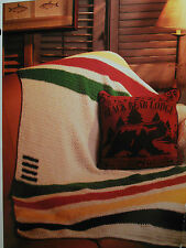Hudson's Bay Blanket Afghan CROCHET PATTERN Wilderness Rustic Decor Hudson OOP