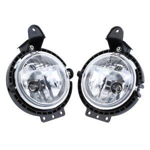 Projector Cob LED Fog DRL Spot Lights Angel Eyes Fits Mitsubishi PAJERO SHOGUN