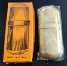 Vintage Slim Brass Lighter Korea Unused in Original Box NoS Not Marked Marlboro