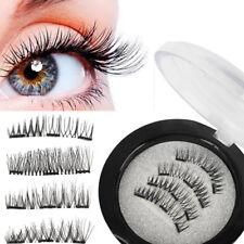 Eye Lashes 3D No-glue  Fashion Reusable  Magnetic Eyelashes Magnet False  Bushy