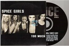 SPICE GIRLS too much CD PROMO card sleeve